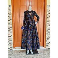 Gamis Batik Pekalongan SIZE M L XL Gamis Wanita Baju Pesta Longdress