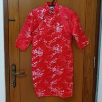 Cheongsam Dress Midi Qipao Imlek Sincia Chinese New Year Anak Remaja