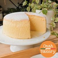 Japanese Cheese Cake Cheesecake Jiggly Fluffy   Onah Bakery Grab Gojek