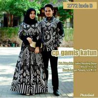 Baju Couple Batik Gamis Sarimbit Baju Pesta Pasangan Wanita Pria -2772