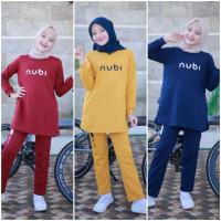 Setelan Training Olahraga Muslim Anak Perempuan 9-14y. Baju Tidur Anak