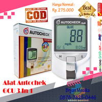 Auto check / alat cek gula darah, kolesterol dan asam urat Auto check