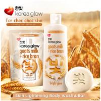 Korea glow sabun mandi botol Goats milk+rice bran 220ml