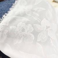bahan kain katun sifon chiffon chifon motif kembang cotton bunga yard