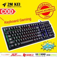 Keyboard Gaming Murah Keyboard Wireless NYK K-02 RGB LED Back