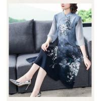 Dress wanita cheongsam import satin elegant