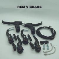 Rem Set VBrake Sepeda Semi Alloy