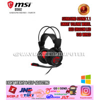 MSI DS502 Gaming Headset Red LED Wired USB Surround Sound 7.1 40mm