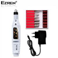 Ezren EZ-2022 Mesin Mini Grinder Grafir Bor Potong Ukir Kuku (Putih)