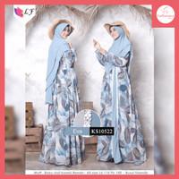 FS303 Baju Gamis Syari Wanita Eva Dress Muslim All Size - ks10522