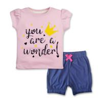 Bearhug Setelan Bayi Perempuan XHD6 Pink Muda Wonder 6-18M