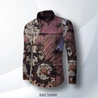 bahan baju batik tulis sutera atbm   motif ikan