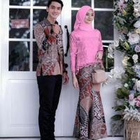 Couple Baju Batik Kebaya Brokat Murah Atasan Muslim Rok Duyung Moderen
