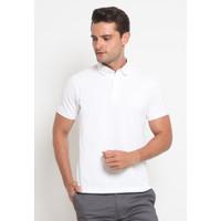 Jobb Calisto Polo Shirt Pria Lengan Pendek Slim Fit White