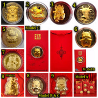 Angpao Emas 2021 Shio Kerbau Model C / Angpao berlapis emas au999