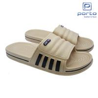 FLASH SALE! Sandal Pria Selop Sandal Pria Santai Original 1017M - Cokelat, 40