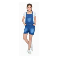 Khlove89 Jumpsuit Pendek Jeans Wanita Overall Kodok Hotpants Women COD
