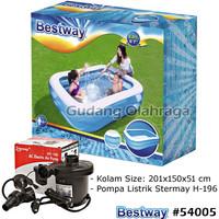 Bestway 54005 Kolam Renang Anak Keluarga Besar 201 cm + Pompa Listrik