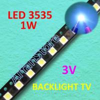 Led 3535 3V 1W Cold White Backlight TV Repair Lampu Putih SMD Uni