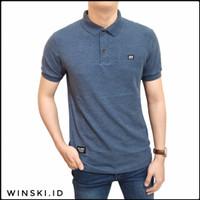Kaos Polo Shirt Premium Blue Denim Alaric Original