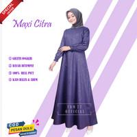[PROMO] Baju Gamis Wanita Syari Terbaru Murah Syar'i Jumbo Busui PINK