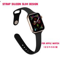 Silicon Strap Slim Design for Apple watch 1 2 3 4 5 6 SE