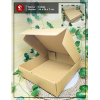 Kardus Box Hampers / Gift Box - uk. 24 x 24 x 7 cm