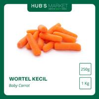 Wortel Kecil Baby Carrot Muda Sayur Segar Pack Kg [250g] [1kg]
