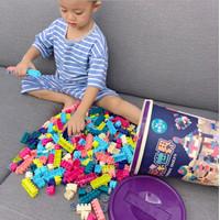 CM-L4 Mainan Edukasi Anak Balok Susun Bentuk Ember Blok Bongkar Pasang