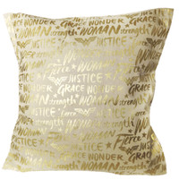 Never Too Old Project - Pillow Case Wonder Woman Canvas