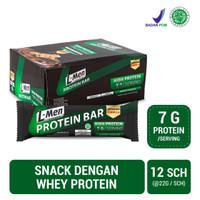 L-Men Protein Bar Crunchy Chocolate 12 Sch (7g protein / serving)