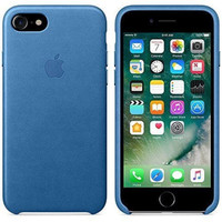 Apple Leather Case Official - Sea Blue for iPhone SE 2020 or 8 or 7
