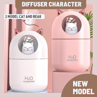 Diffuser 300ml Humidifier Desain Lucu Air diffuser Aromatherapy