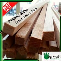 Kayu Balsa Stick Balok Kayu Kaso Mini Wood Pinus 30Cm
