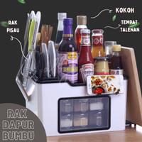 RAK dapur bumbu pisau botol Rak dapur organizer 6 tempat bumbu