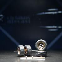 Ban Karet + selongsong as roda(axl+stopper) ukuran 12-12 Rally