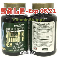 Natures Plus Ultra RX Joint Glucosamin Chondroitin MSM ER 45 Original