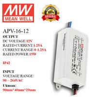 MEANWELL Power Supply APV-16-12 APV 16 12 APV1612 Ballast 12v Indoor