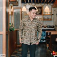 Baju Kemeja Batik Pria Lengan Panjang Pendek Modern Pesta Kantoran G04