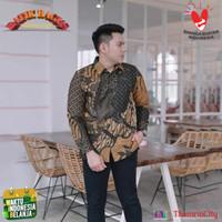 Baju Batik Pria Kantor Doby Lasem Lapis Furing Motif Sutra Tulis Mewah