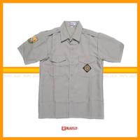 Baju Kemeja Pramuka Pembina Guru Bahan Rapilo Pria Lengan Pendek