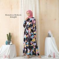 gamis dewasa longdress homedess lengan panjang hijabers casual