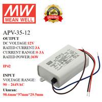MEANWELL Power Supply APV-35-12 APV 35 12 APV3512 Ballast 12v Indoor