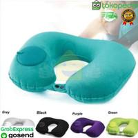 Bantal Leher Tiup Pompa / Travel Neck Pillow Inflatable