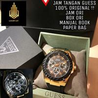 Jam tangan pria guess original import asli tali rubber