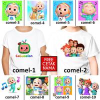 [ FREE NAMA ] Baju Kaos custom COCOMELON ANAK DAN DEWASA couple