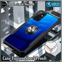 Case Infinix Note 8 2020 Soft Hard Tpu Transparan Casing Cover