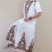 batik koko sarung celana gunungan sogan set