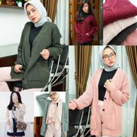 Merissa Outwear CLASIC Cardigan Knit - Cardigan Kemeja - Atasan Wanita