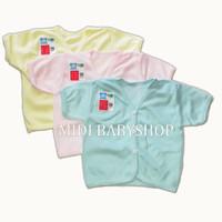 Baju bayi lengan pendek polos ( Nita Baby ) - Merah Muda